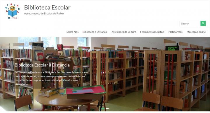 Novo Website – Biblioteca Escolar